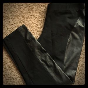 INC Faux Leather Side Pant Size 16